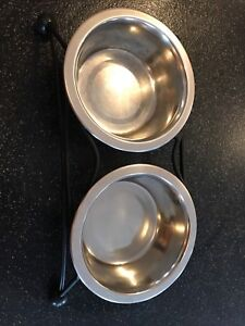 Stainless and Wraught Iron Dog Dish Enfield
