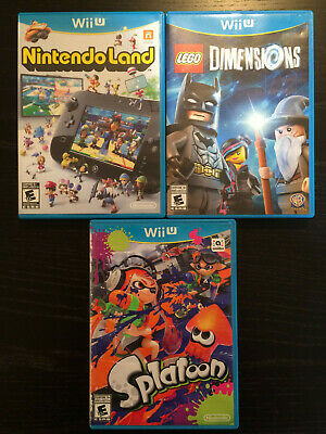 NINTENDO Wii U Game Bundle - SPLATOON, NINTENDO LAND, LEGO DIMENSIONS