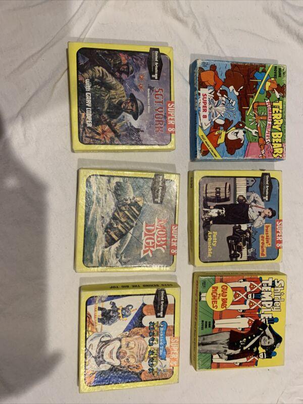 Vintage Lot Of 6 Super 8 Films