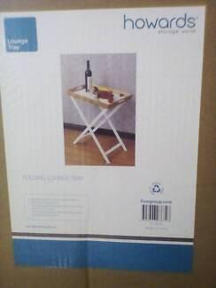 Folding lounge tray/table