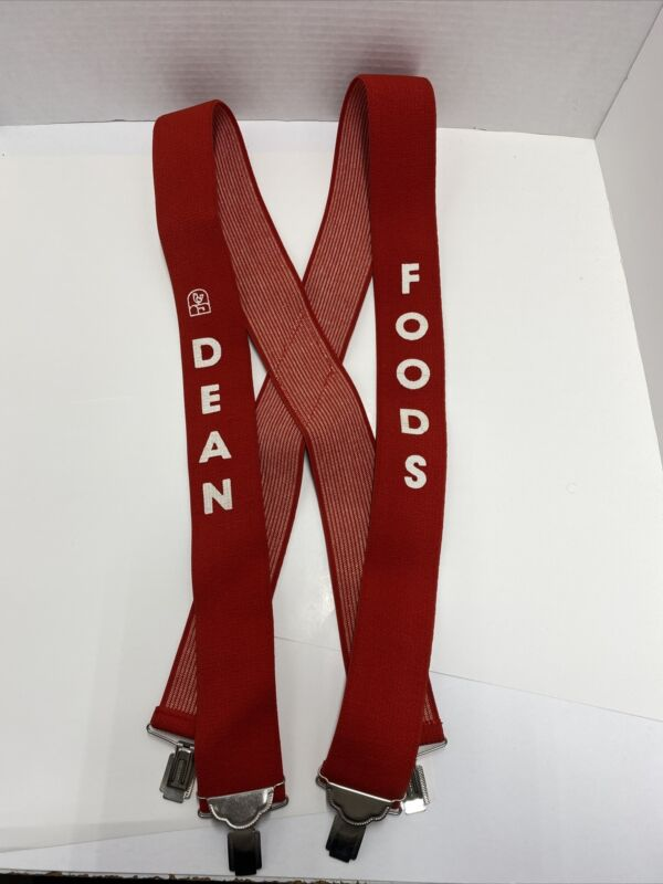 Vintage Dean Foods Advertisement Suspenders Rare