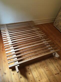 Futon Bed Base Spring Mattress Double Size