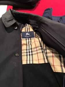 Men's Burberry jacket with wool liner and other jackets