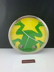 Stainless Steel  KARLSSON Frog Wall Clock Moving Eyes On Pendulum