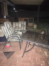 Free glass outdoor table + 5 chairs Rockingham Rockingham Area Preview