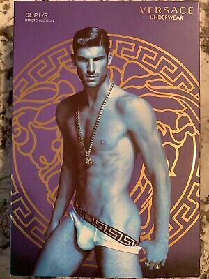 NWT Authentic Versace Men's Brief Size 6 Large Mens Underwear Black