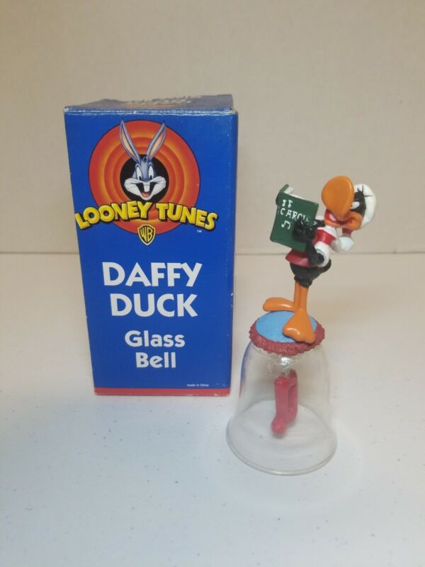 Looney Tunes Daffy Duck Glass Bell in Box - 1998