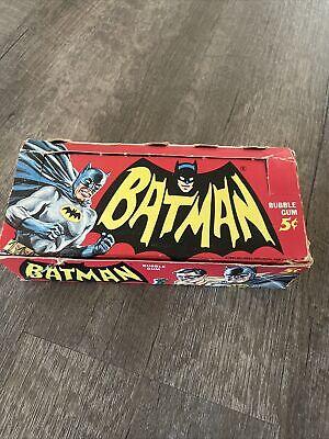 1966 BATMAN 5cent CARD PACK DISPLAY BOX TOPPS Beauty