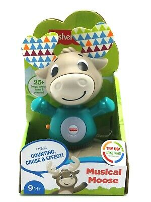 Fisher-Price Linkimals Musical Moose - Interactive Educational Toy with Music...