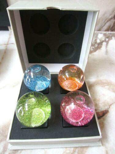 CoolSnowGlobes Jewel Mini Set Snow Globe 4 Pack New In Box