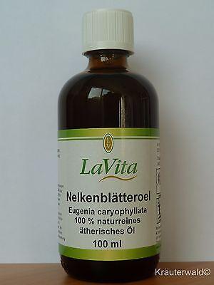 Lavita Nelkenöl 100ml 100% naturreines ätherisches Öl Eugenia caryophyllata