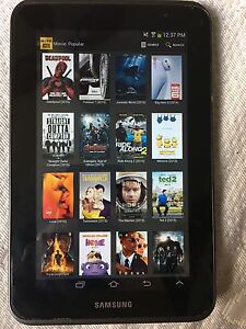 Samsung tablet 2 with android box movie app