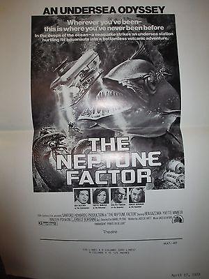 The Neptune Factor, Movie Press Ad Kit, 1973, Ben Gazzara, Ernest Borgnine