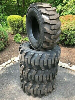 4 New Galaxy Skid Steer Tires 14x17.5 - 14 Ply Rating - 14-17.5 - Backhoe Tires