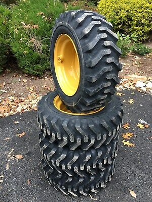 4 New 10x16.5 Skid Steer Tires Rims For Caterpillar - Cat - 10-16.5 - Camso