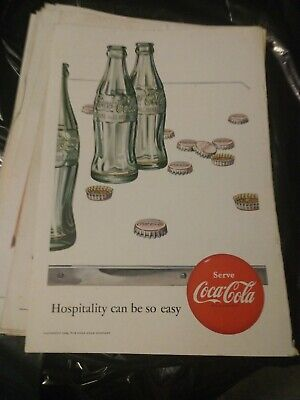 1951 Vintage Coke Coca Cola Soda Magazine Ad Bottles Hospitality Can Be So Easy