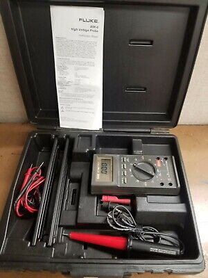 Fluke 27fm Multimeter Hard Case 80k6 High Voltage Probe Leads Alligator Clips