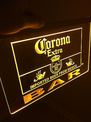 Corona Extra BAR Sign Led Neon Sign for Game Room,Office,Bar,Man Cave, Beer