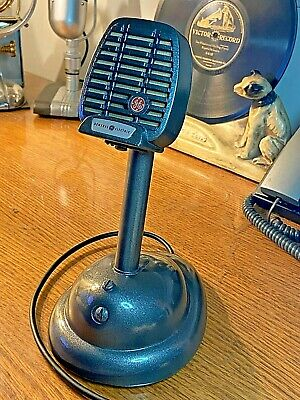 Vintage 1950's GE/Shure 97U29 Controlled Reluctance Mic w/S36 Stand-works!
