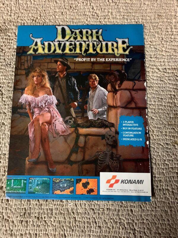 Dark Adventure Konami ARCADE  Game FLYER