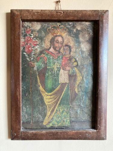 Saint Joseph Tin Retablo