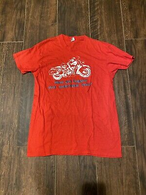 vintage 70s 80s HAVE YOU HUGGED YOUR MOTORCYCLE TODAY T SHIRT indian Motor BIKER