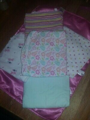 Baby Girl Receiving Blankets. Qty. (5)