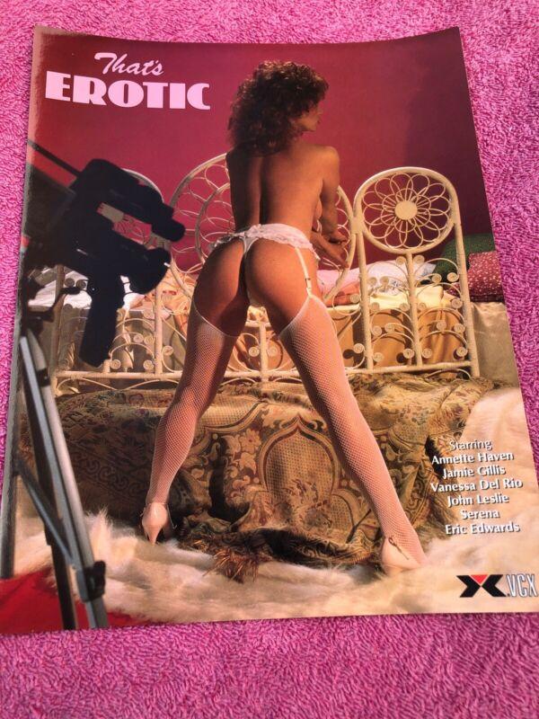 "Vintage ""That's Erotic""Porn Movie Advertisement 1980s Poster Advertisement Flyer"