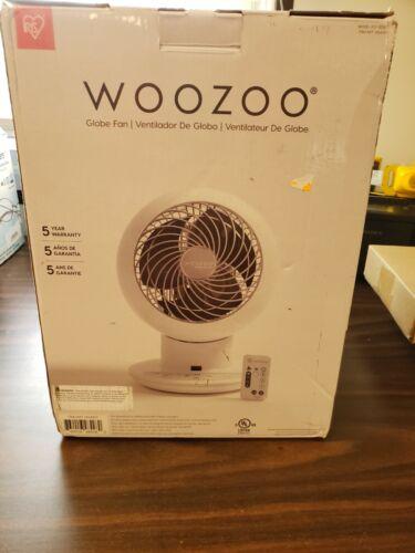 New- Woozoo Globe Multi-Directional 5-Speed Oscillating Fan w/ Remote, White