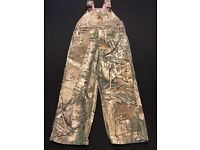 Carhartt Real Tree Camo Bib Overall Shorts CM8653 Infants//Babies//Toddlers NWT