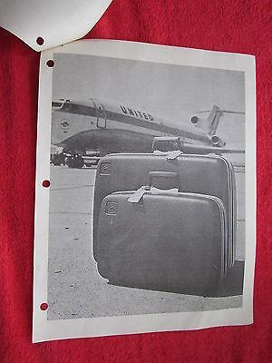 1971 For John Deere Dealers Jd Logo Samsonite Luggage Sales Promotion Brochure