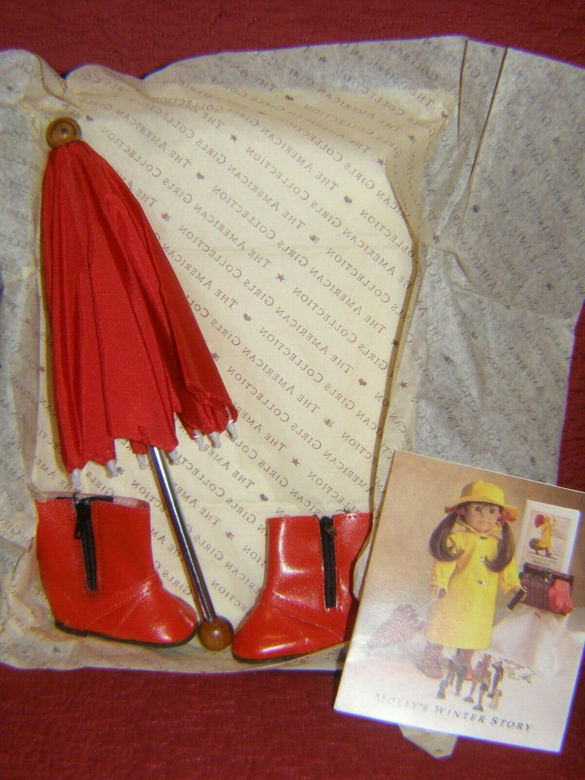 AMERICAN GIRL Molly s Winter Story Umbrella Boots By Pleasant Co 1st Ed. - $52.99