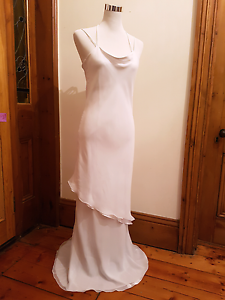 Cowl neck asymmetrical layered white formal dress West Hindmarsh Charles Sturt Area Preview