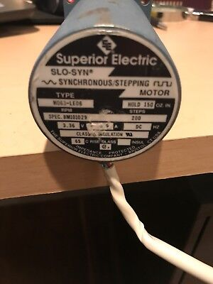 Superior Electric Slo-syn M063-le06 Synchronousstepping Motor 3.36v 2.9a