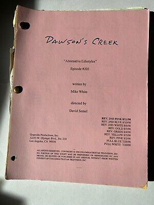 DAWSON'S CREEK / Ep 203 Alternative Lifestyles 1998 Original Prod Script
