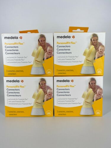 4 Boxes of Medela PersonalFit Flex Connectors Set - 2 Per Box - Factory Sealed