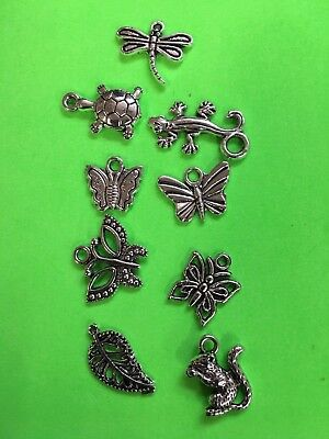 CHARMS butterfly turtle animal fun gift idea stocking stuffer Christmas gift #A3