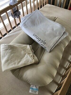 Snuggle Me Organic Sensory Lounger for Baby organic cotton With Cover And Bag