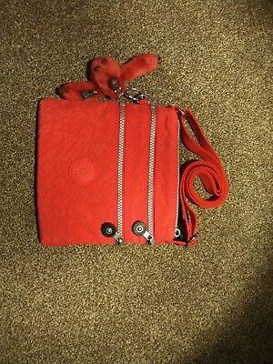Kipling ALVAR Small Cross-body Bag / Red / NEW / Monkey / K1517810P HOT
