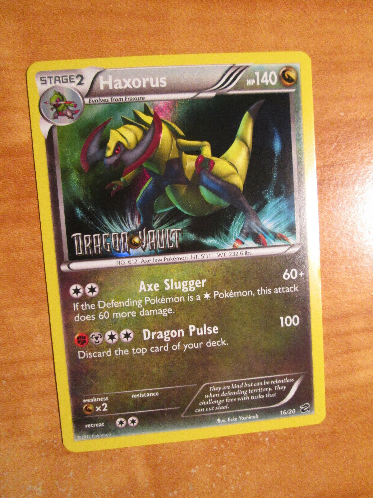 Axew 12//20 Dragon Vault M//NM Free Shipping Holo