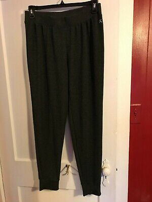 Women's Danskin Dimensions  LARGE (12-14P) Gray Pants  Leisure Active Wear ~ EUC