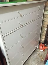 White chest of drawers / tall boy Hornsby Hornsby Area Preview