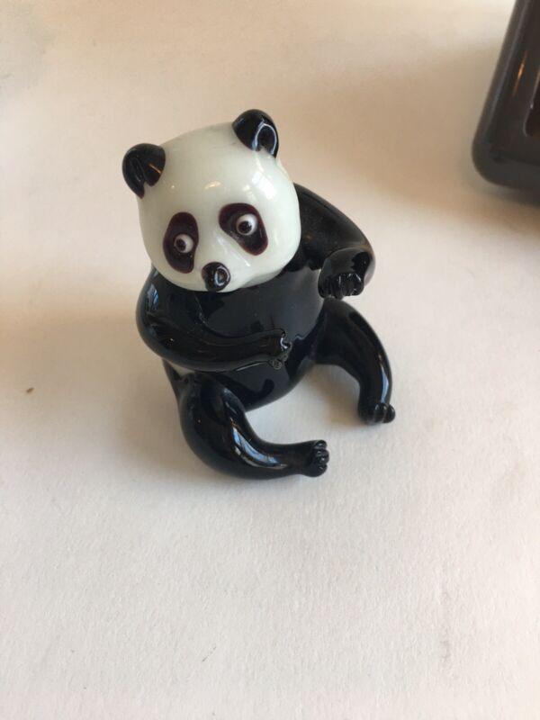 Blown Glass Panda