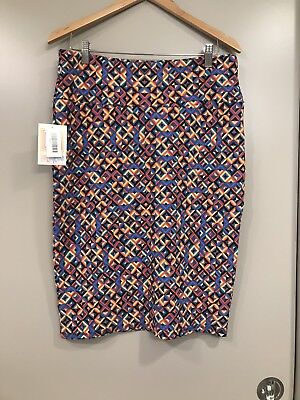 Lularoe Cassie Skirt NWT Size Large Multicolor Pencil Skirt](Multicolor Pencil)
