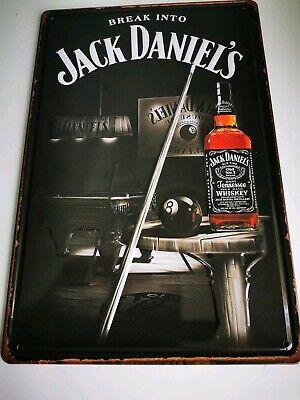 Jack Daniels (Break Into Jack Daniels) Embossed Tin Sign, Home Bar, Mancave, 003