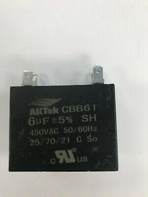 6UF 450V 50/60Hz  HVAC Mini-Split Replacement Capacitor - ALLTEK