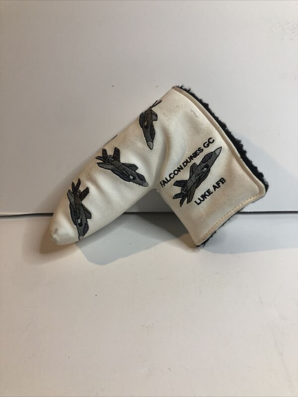 Airplane golf putter head cover falcon dunes gc luke AFB AME Top Cover