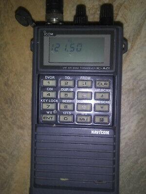 I-COM IC- A21  AVIATION VHF RADIO  TRANSCEIVER CHARGER, works