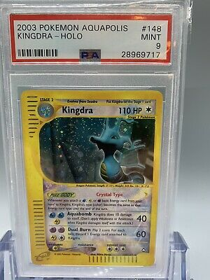 💦 Crystal Kingdra Holo - Pokemon Aquapolis Set - PSA 9 - MINT 🌱