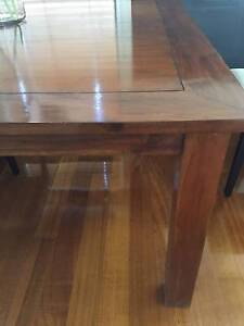 Square Balinese dining table in great condition Northcote Darebin Area Preview